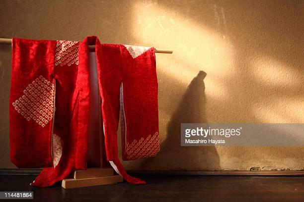 miniature kimono - kimono stock pictures, royalty-free photos & images