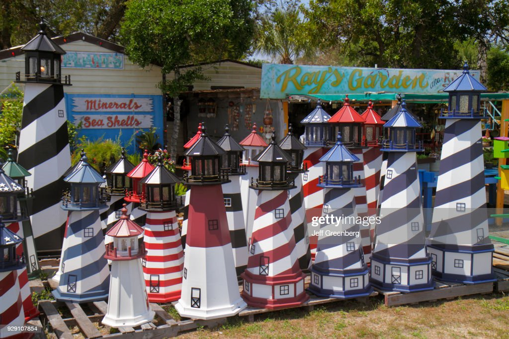 Miniature lighthouses for sale at Ray's Rocks & Minerals