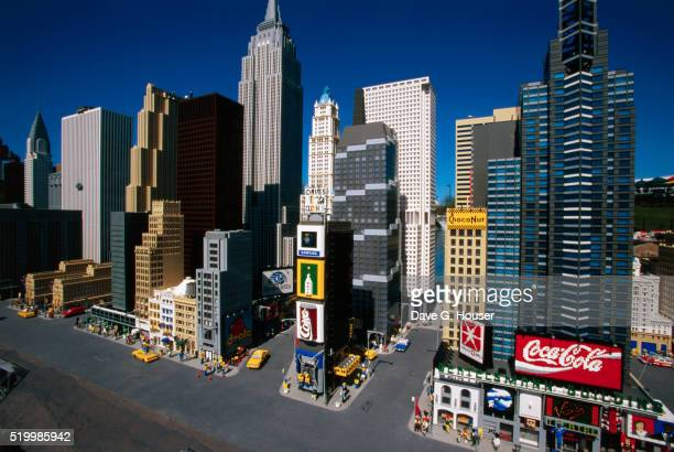 Miniature Manhattan Skyline Made From Legos