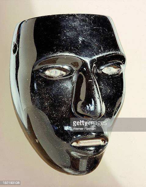 Miniature mask thought to represent Huitzilopochtlis lieutenant Ixtilton This god went to children in their beds and brought them darkness and...