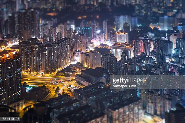 Miniature midtown Hong Kong city , city of light