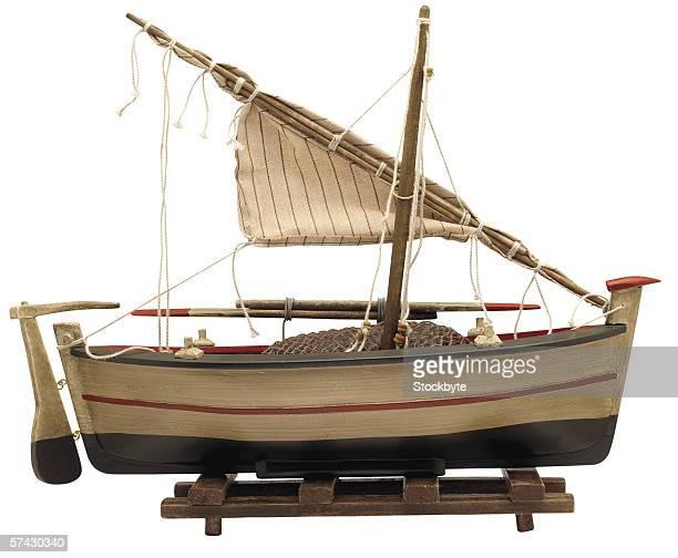 miniature model of a boat