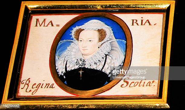 Miniature of Mary Queen of Scots painted by Nicholas Hilliard watercolour on vellum Mary Queen of Scots sat for this portrait when she was a prisoner...