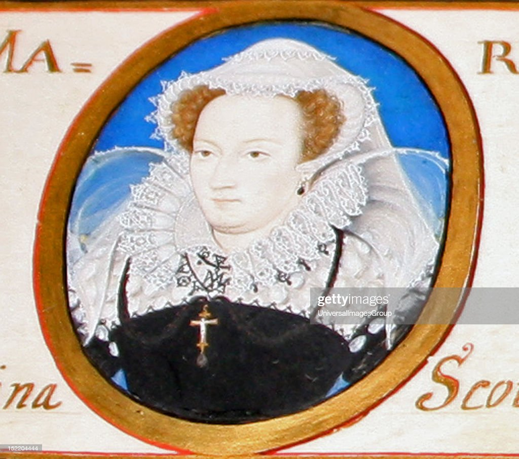 Miniature Of Mary Queen Of Scots Painted By Nicholas Hilliard