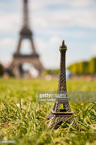 Miniature of the Eiffel Tower in Paris
