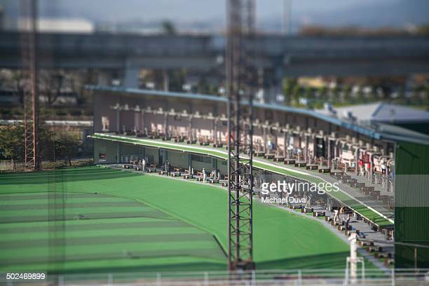 miniature of tokyo golf driving range - driving range stock pictures, royalty-free photos & images