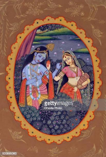 Miniature Painting Of Radha Krishna India Asia