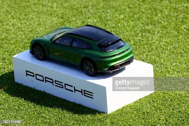 Miniature Porsche car during a practice day prior to The Porsche European Open at Green Eagle Golf Course on June 04, 2021 in Hamburg, Germany.