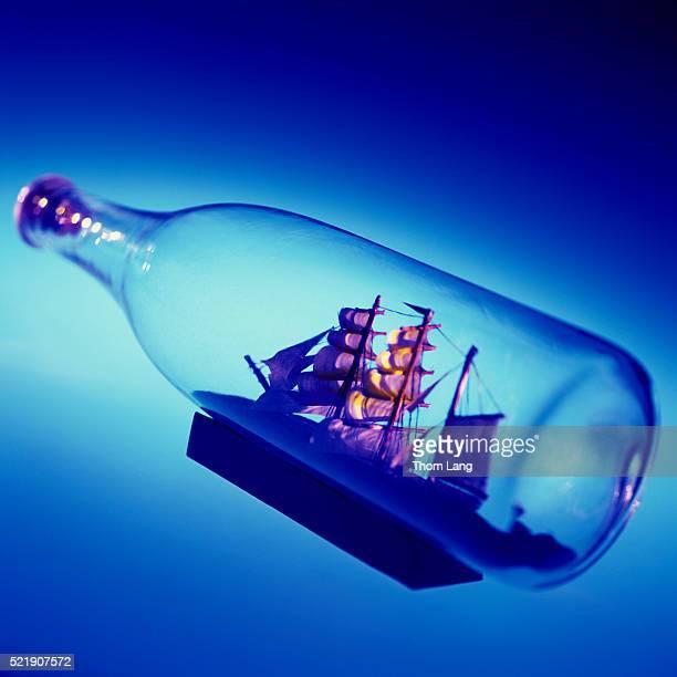 Miniature Ship in Glass Bottle