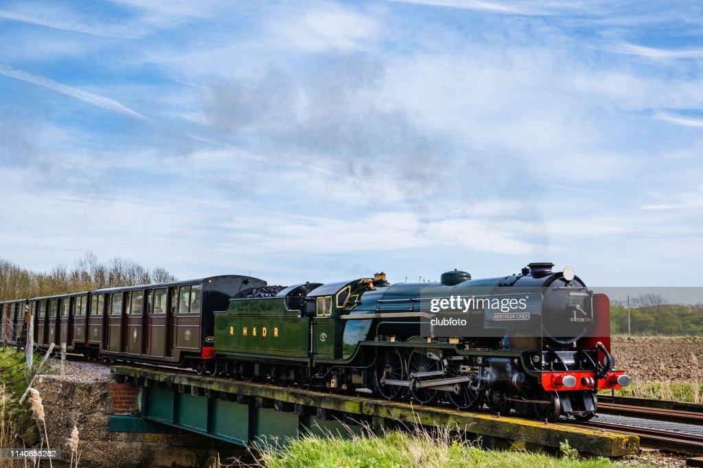 Miniature team train in Dungeness, Kent, UK : Stock Photo