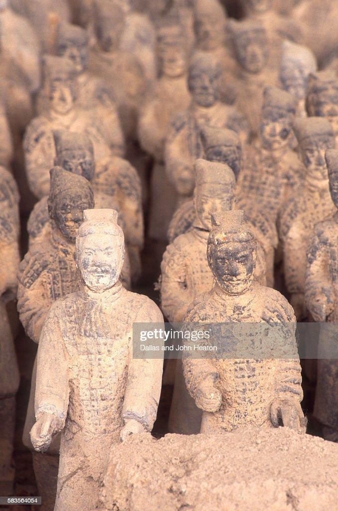 Miniature Terracota Warriors, Shenzen, Guangdong Province, China : ストックフォト