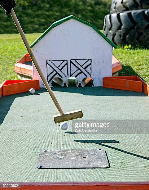 Mini-golf through the Barn Doors