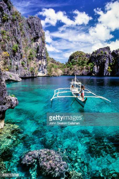 miniloc lagoon in el nido - el nido stock pictures, royalty-free photos & images