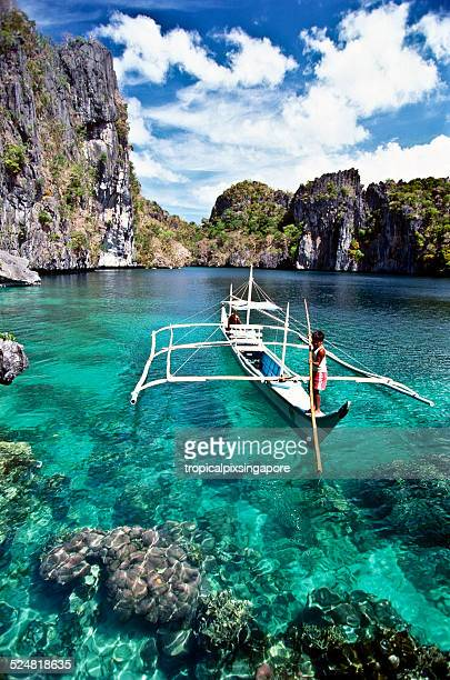 miniloc lagoon - el nido stock pictures, royalty-free photos & images