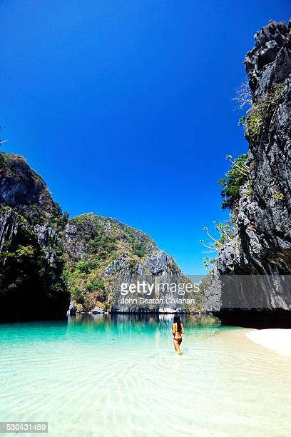 miniloc lagoon - palawan stock pictures, royalty-free photos & images