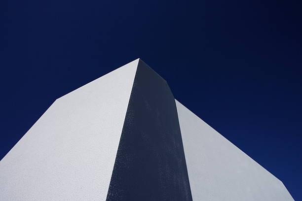 Minimal architecture,blue sky background