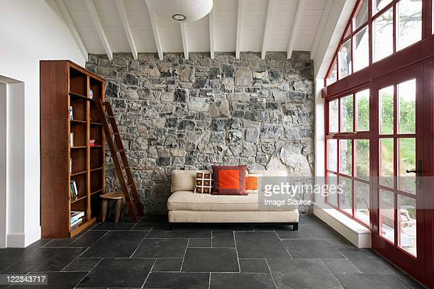 minimal room - stone wall stock pictures, royalty-free photos & images