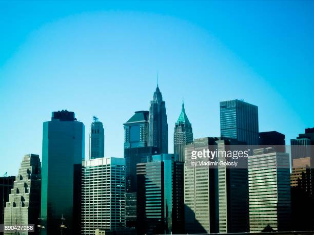 Minimal View of New York Skyline