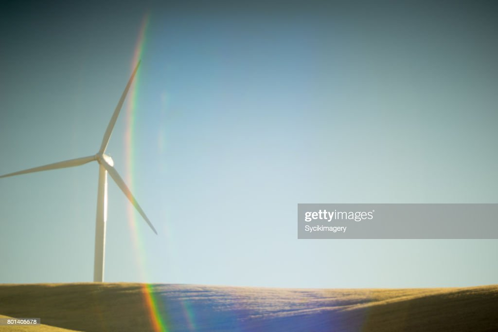 minimal wind turbine : Stock Photo