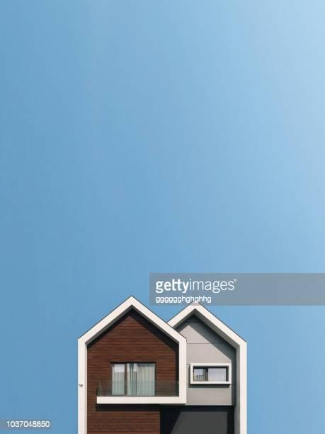 minimalist costa nova - casa fotografías e imágenes de stock
