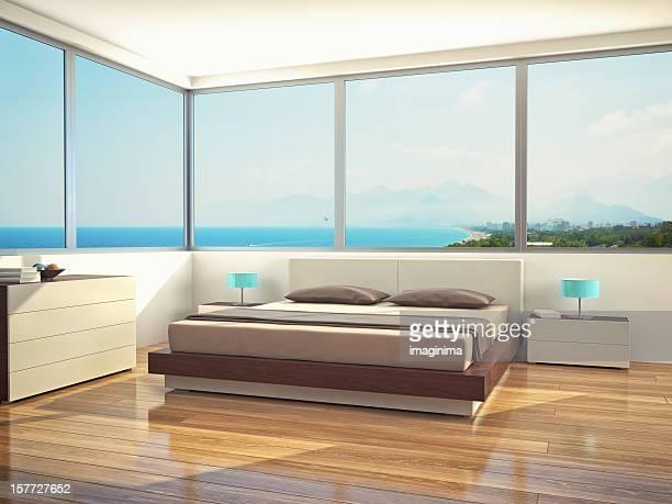 Chambre à coucher moderne minimaliste