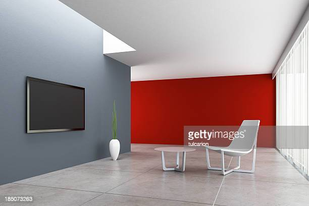 Minimalist TV Room
