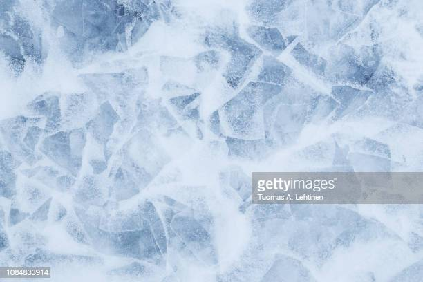 minimalistic background of snow and ice - kälte stock-fotos und bilder