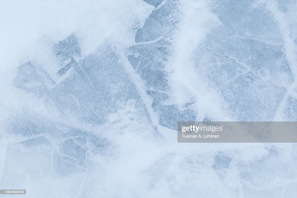 Minimalistic background of snow and ice : Stock Photo