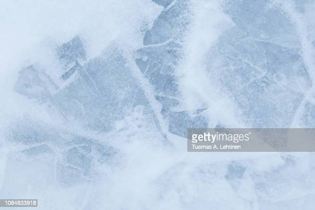 minimalistic background of snow and ice - eis stock-fotos und bilder