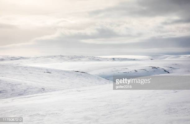 minimalistic landscape - varanger - northern norway - polar climate stock pictures, royalty-free photos & images