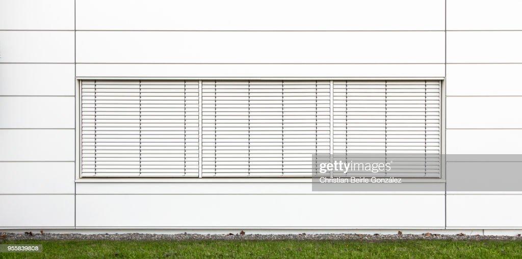 Minimalistic Office Facade in White : Stock Photo
