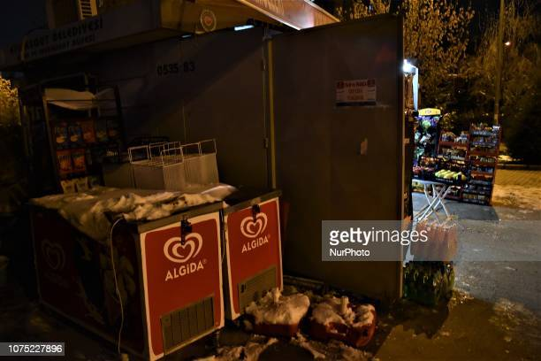 A minimarket is pictured in Ankara Turkey on December 27 2018 A year is passed under economic difficulties as part of high inflation rates and the...