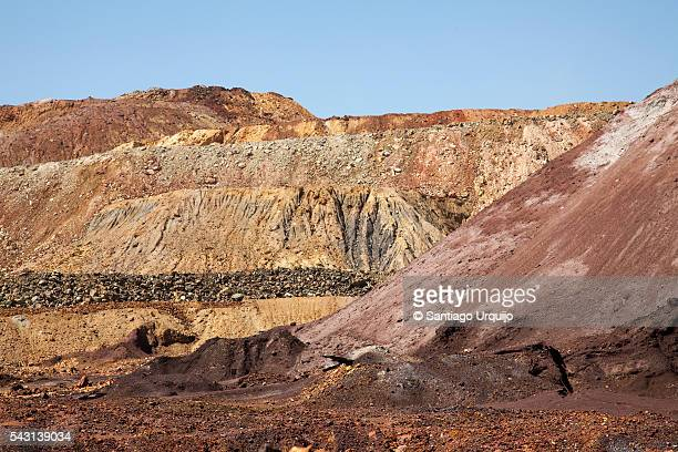 Mining effects on landscape at Rio Tinto mines