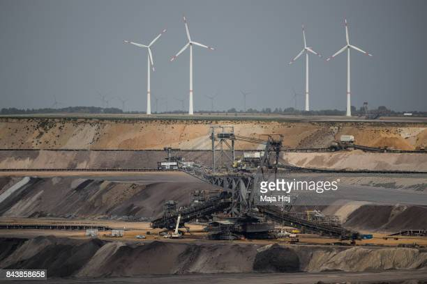 Mining machines operate in the Garzweiler openpit lignite mine in Jackerath Germany on September 7 2017