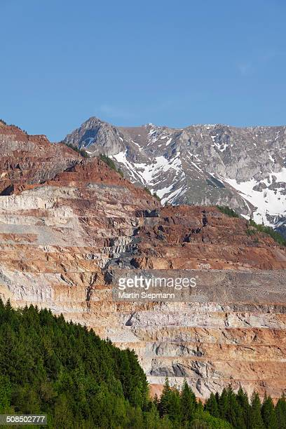 Mining of ore on Erzberg mountain, Eisenerz, Styrian Iron Trail, Upper Styria, Styria, Austria, Europe, PublicGround