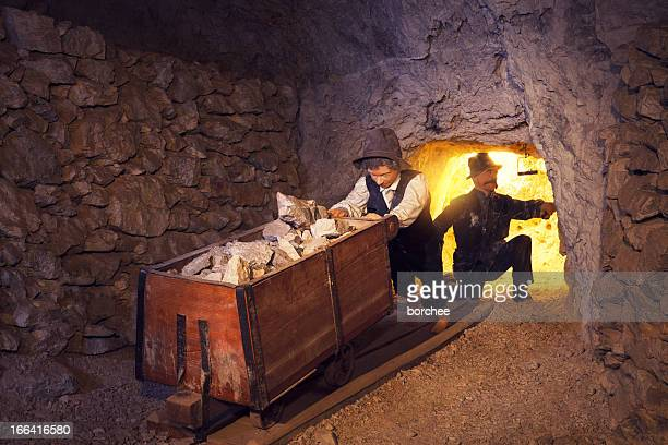 mining process from its early beginnings - coal mining stock photos and pictures
