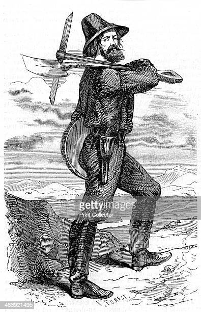Mining prospector in the Californian gold fields 1853 The discovery of gold in 1848 led to mass immigration into California with over half a million...