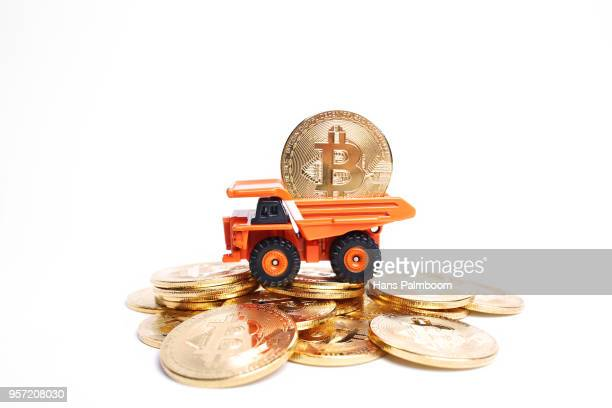 Mining Truck Full of Bitcoins Coins