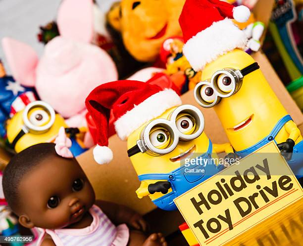 Minion Bob and Kevin promoting a toy drive