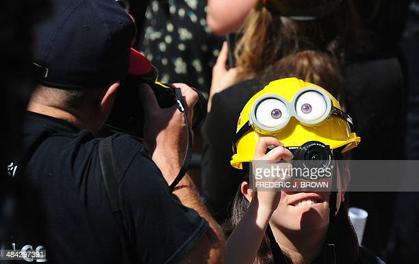 Minion helmets were all the rage after being handed out to those in attendance marking the opening of Universal Studio's latest attraction...