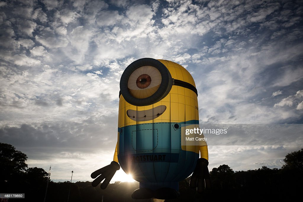 A Minion shaped balloon takes to the skies on the first day of the Bristol International Balloon Fiesta at the Ashton Court estate on August 6, 2015 in Bristol, England. Now in its 37th year, the Bristol International Balloon Fiesta is Europe's largest annual hot air balloon event in the city that is seen by many balloonists as the home of modern ballooning.