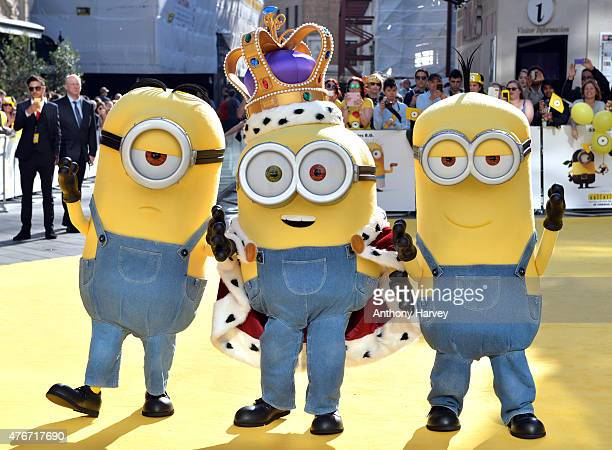 Minions attend the World Premiere of 'Minions' at Odeon Leicester Square on June 11 2015 in London England