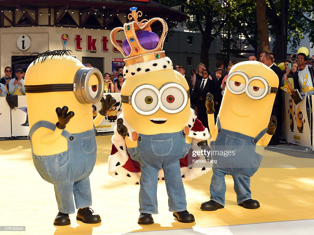 Minions attend the World Premiere of 'Minions' at Odeon Leicester Square on June 11, 2015 in London, England.