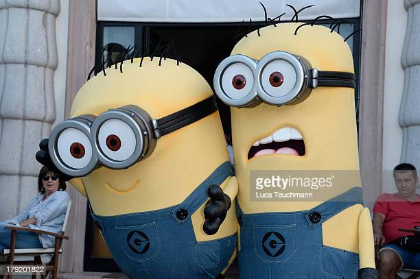 Minions from the film 'Despicable Me' are seen during the 70th Venice International Film Festival on September 1 2013 in Venice Italy
