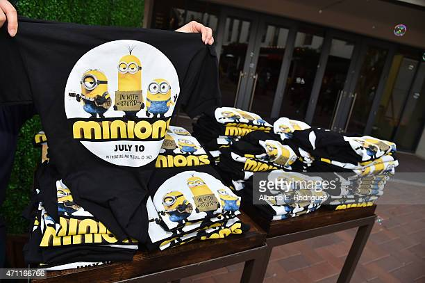 Minions TShirts at City Year Los Angeles Spring Break at Sony Studios on April 25 2015 in Los Angeles California