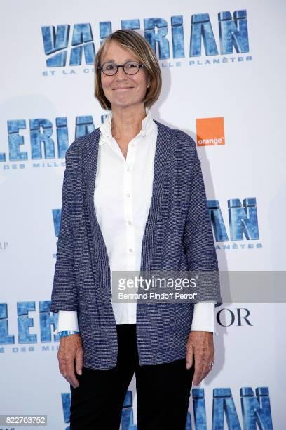 Miniser of Culture Francoise Nyssen attends 'Valerian et la Cite des Mille Planetes' Paris premiere at La Cite Du Cinema on July 25 2017 in...