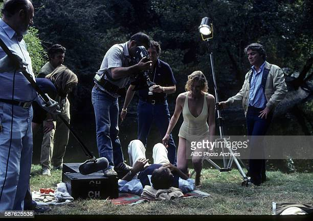 Miniseries BehindtheScenes Coverage Airdate February 6 through 11 and February 13 1983 PRODUCTION SHOT OF DAN CURTIS ROBERT MITCHUM AND