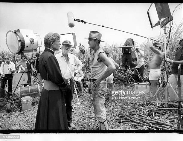 Miniseries BehindtheScenes Coverage Airdate March 27 through 30 1983 DIRECTOR DARYL DUKE WITH RICHARD CHAMBERLAIN AND