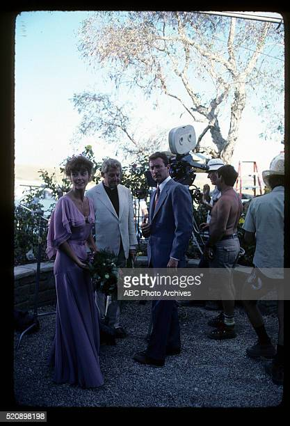 Miniseries BehindtheScenes Coverage Airdate March 27 through 30 1983 PRODUCTION SHOT OF RACHEL WARD AND BRYAN BROWN ON SET