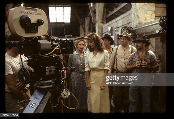 Miniseries BehindtheScenes Coverage Airdate March 27 through 30 1983 PRODUCTION SHOT OF ALLYN ANN MCLERIE RACHEL WARD DWIER BROWN AND BARRY CORBIN